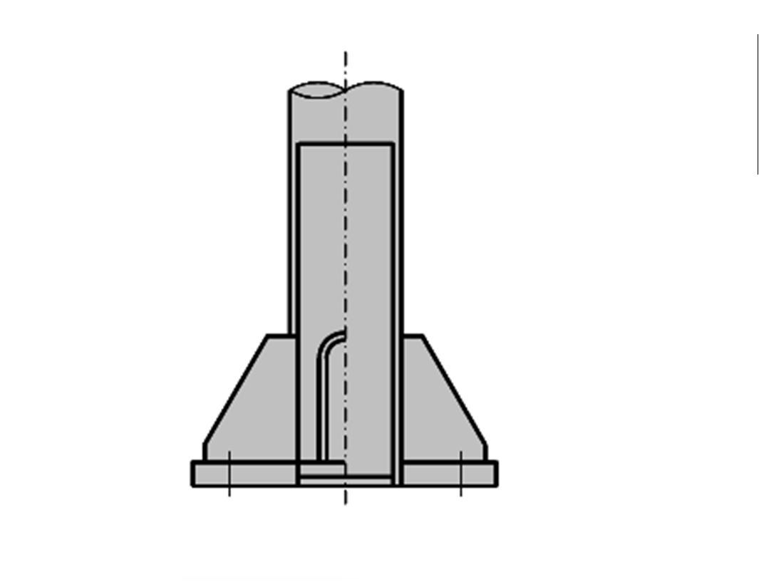 照明柱基部(二重管)詳細図